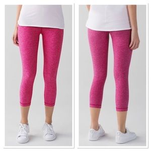 Lululemon Wunder Under Crop II Pink Magenta 4